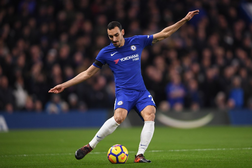 LONDON, ENGLAND - NOVEMBER 29: Davide Zappacosta of Chelsea in action during the Premier League match between Chelsea and Swansea City at Stamford Bridge on November 29, 2017 in London, England. (Photo by Mike Hewitt/Getty Images)