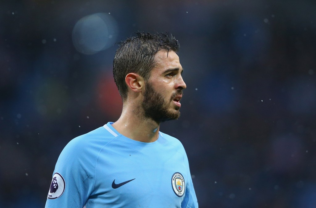 MANCHESTER, ENGLAND - OCTOBER 21: Bernardo Silva of Manchester City looks on during the Premier League match between Manchester City and Burnley at Etihad Stadium on October 21, 2017 in Manchester, England. (Photo by Alex Livesey/Getty Images)