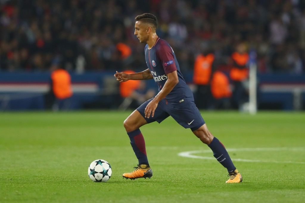 PARIS, FRANCE - SEPTEMBER 27: Marquinhos of Paris runs with the ball during the UEFA Champions League group B match between Paris Saint-Germain and Bayern Muenchen at Parc des Princes on September 27, 2017 in Paris, France. (Photo by Alexander Hassenstein/Bongarts/Getty Images)