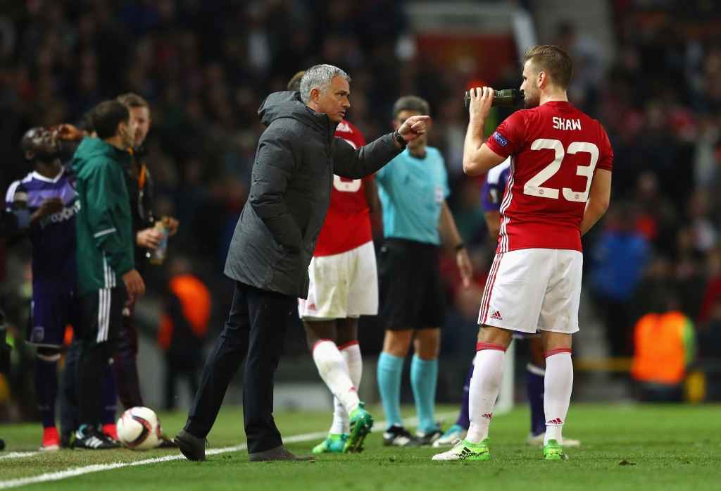 All is not well between Jose and Luke Shaw (Photo by Michael Steele/Getty Images)