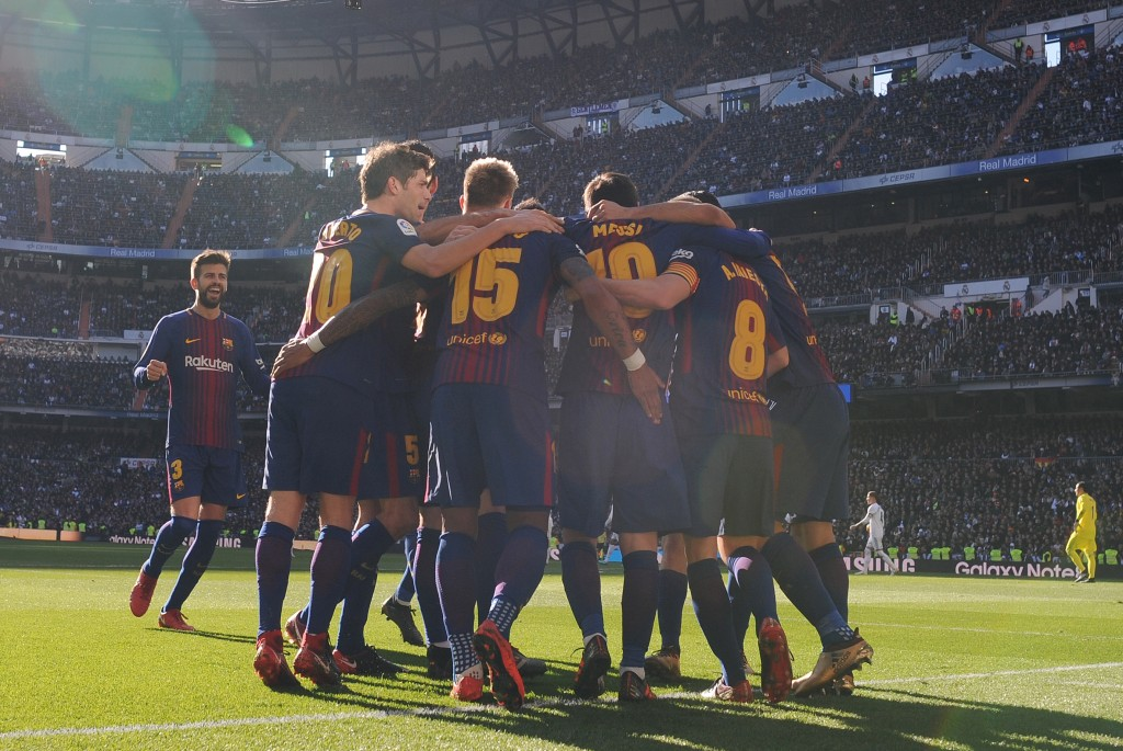 Barcelona cruised to a 3-0 win over Real Madrid at the Bernabeu back in December. (Photo courtesy - Denis Doyle/Getty Images)