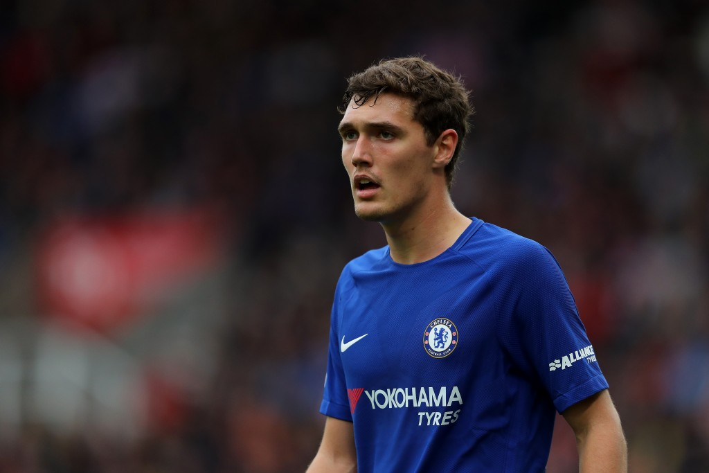 STOKE ON TRENT, ENGLAND - SEPTEMBER 23: Andreas Christensen of Chelsea in action during the Premier League match between Stoke City and Chelsea at Bet365 Stadium on September 23, 2017 in Stoke on Trent, England. (Photo by Richard Heathcote/Getty Images)
