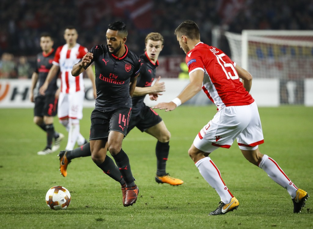 Walcott has featured regularly in the Europa League this season and has 3 goals and 4 assists in the competition. (Photo courtesy: AFP/Getty)