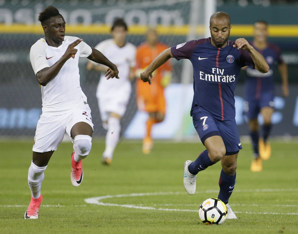 Lucas Moura only has five Ligue 1 appearances this season, scoring once. (Photo Courtesy: AFP/Getty)