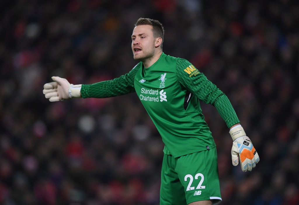 LIVERPOOL, ENGLAND - NOVEMBER 25: Simon Mignolet of Liverpool shouts instructions during the Premier League match between Liverpool and Chelsea at Anfield on November 25, 2017 in Liverpool, England. (Photo by Shaun Botterill/Getty Images)