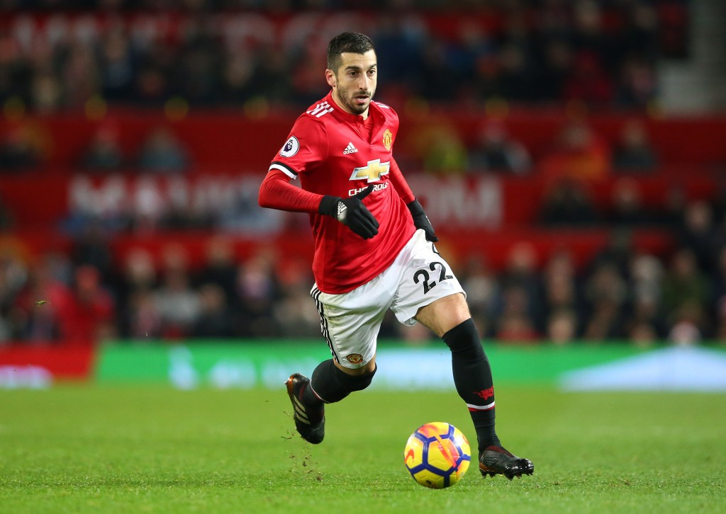 MANCHESTER, ENGLAND - DECEMBER 26: Henrikh Mkhitaryan of Manchester United during the Premier League match between Manchester United and Burnley at Old Trafford on December 26, 2017 in Manchester, England. (Photo by Alex Livesey/Getty Images)