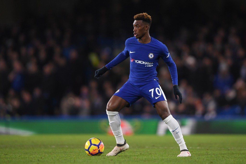 LONDON, ENGLAND - JANUARY 31: Callum Hudson-Odoi of Chelsea in action during the Premier League match between Chelsea and AFC Bournemouth at Stamford Bridge on January 31, 2018 in London, England. (Photo by Mike Hewitt/Getty Images)