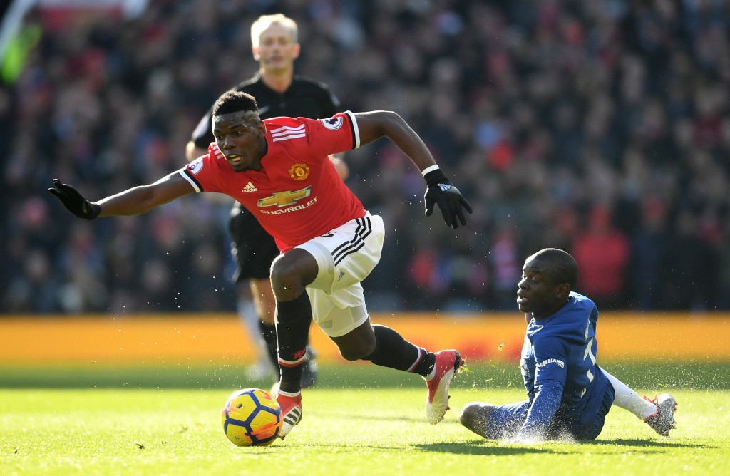 Pogba won the battle of the Frenchmen. (Photo courtesy - Laurence Griffiths/Getty Images)