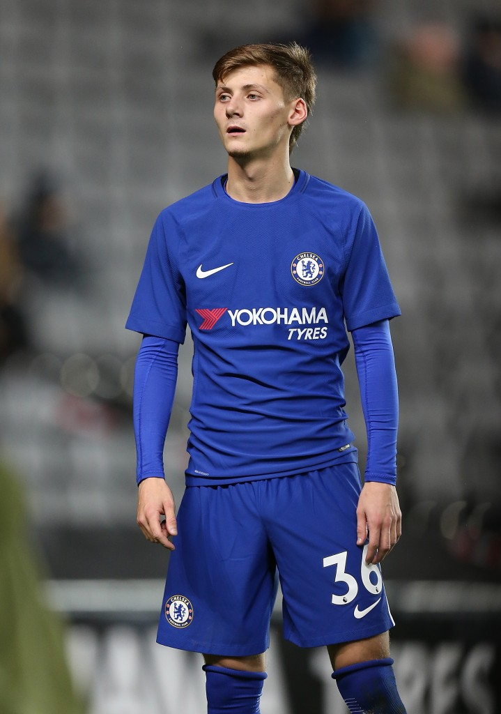MILTON KEYNES, ENGLAND - DECEMBER 06: Kyle Scott of Chelsea in action during the Checkatrade Trophy Second Round match between Milton Keynes Dons and Chelsea U21vat StadiumMK on December 6, 2017 in Milton Keynes, England. (Photo by Pete Norton/Getty Images)