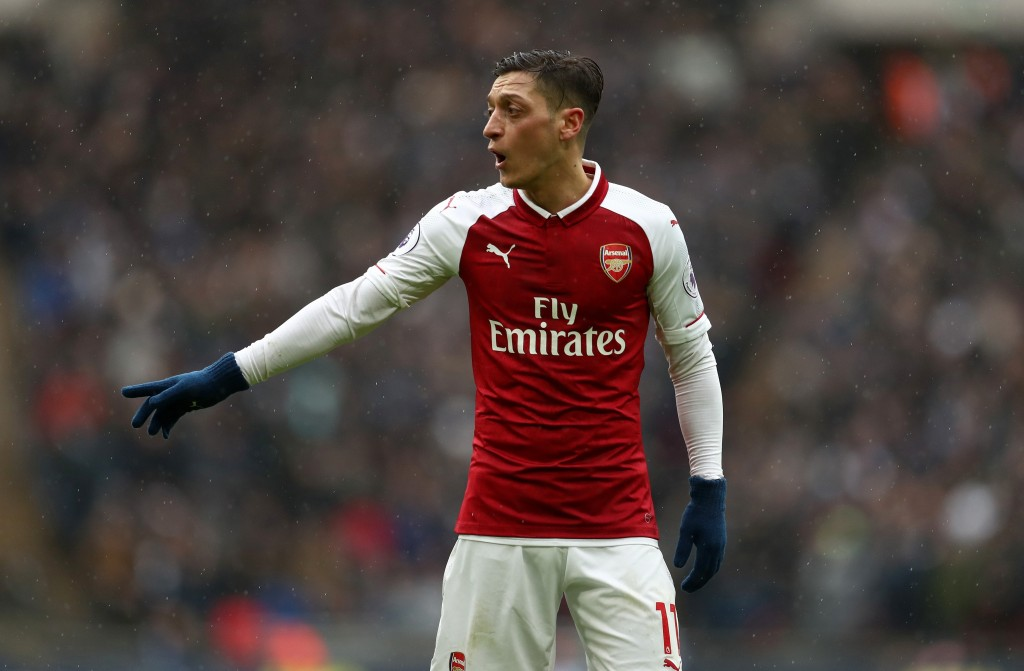 LONDON, ENGLAND - FEBRUARY 10: Mesut Ozil of Arsenal during the Premier League match between Tottenham Hotspur and Arsenal at Wembley Stadium on February 10, 2018 in London, England. (Photo by Catherine Ivill/Getty Images)