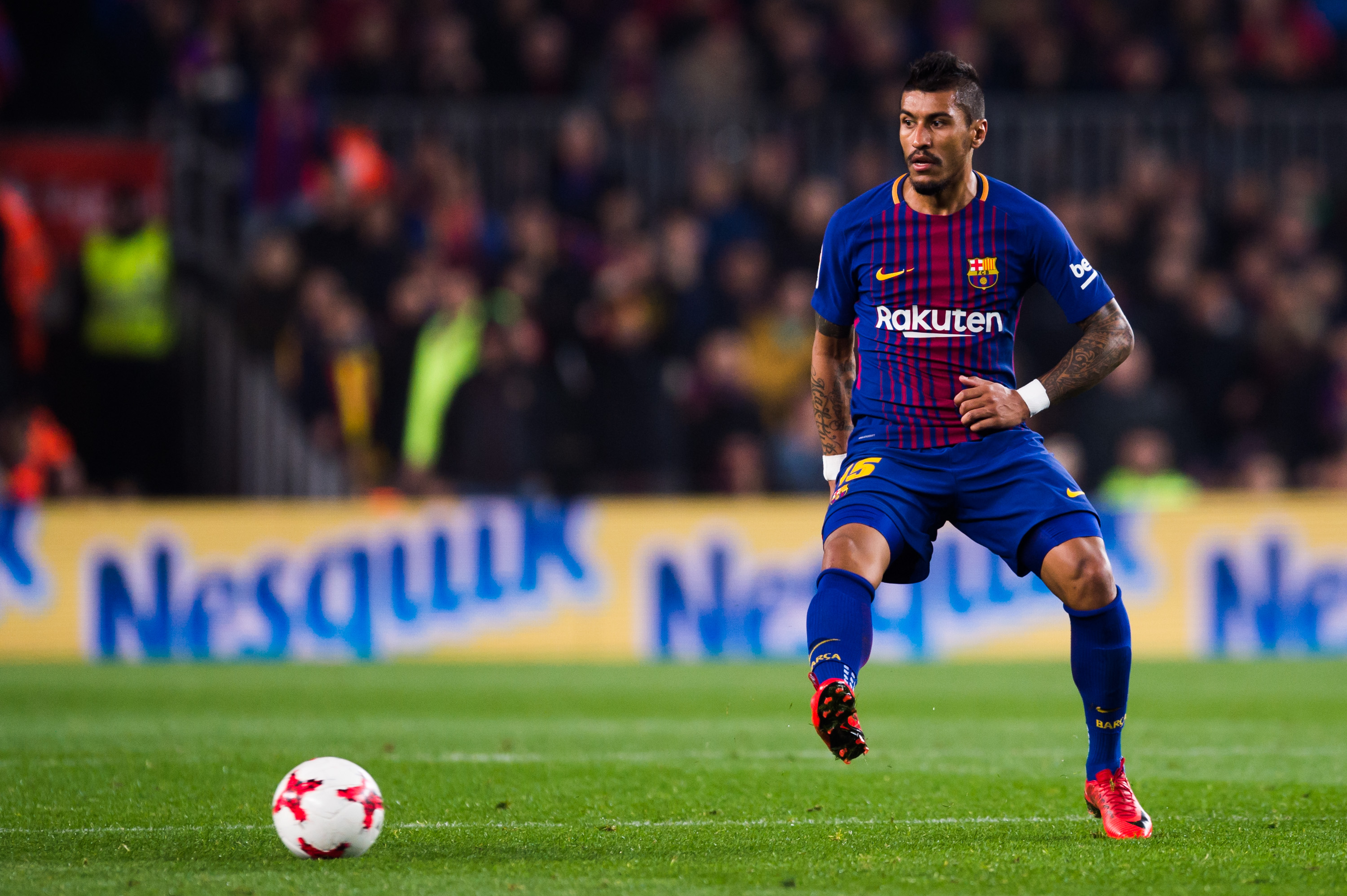 Paulinho has grown into a key man at Camp Nou (Photo courtesy - Alex Caparros/Getty Images)