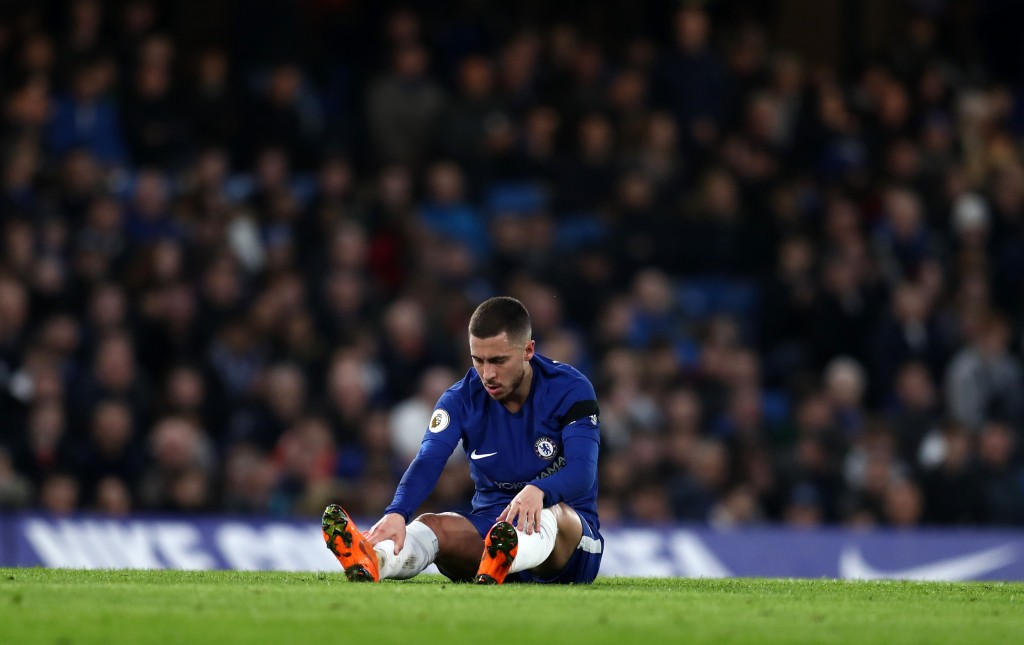 LONDON, ENGLAND - MARCH 10: Eden Hazard of Chelsea during the Premier League match between Chelsea and Crystal Palace at Stamford Bridge on March 10, 2018 in London, England. (Photo by Catherine Ivill/Getty Images)