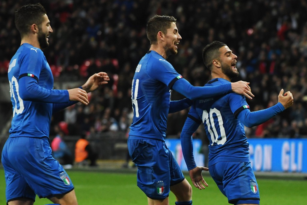 Insigne scored the penalty won by Chiesa. (Picture Courtesy - AFP/Getty Images)