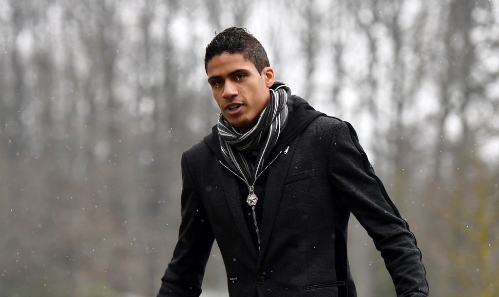 France's defender Raphaël Varane arrives at the French national football team training base in Clairefontaine-en-Yvelines, on March 19, 2018, as part of the preparation for the team's upcoming friendly matches. / AFP PHOTO / FRANCK FIFE (Photo credit should read FRANCK FIFE/AFP/Getty Images)