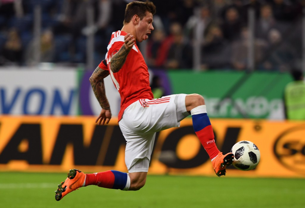 Smolov scored the only goal for Russia (KIRILL KUDRYAVTSEV/AFP/Getty Images)