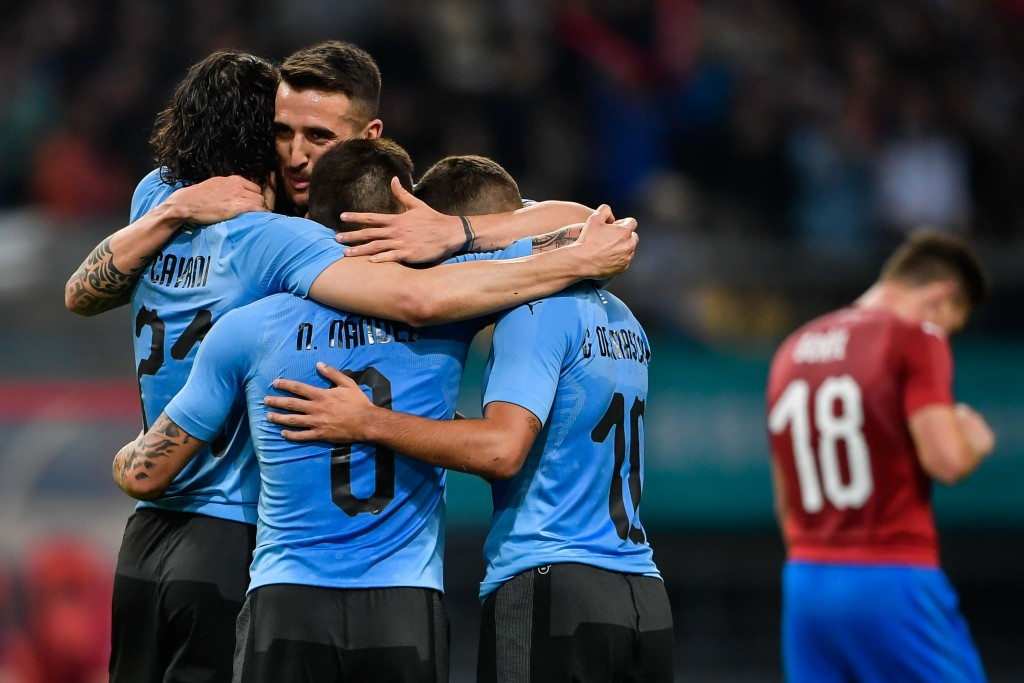 An easy win for Uruguay (Photo - AFP/Getty Images)