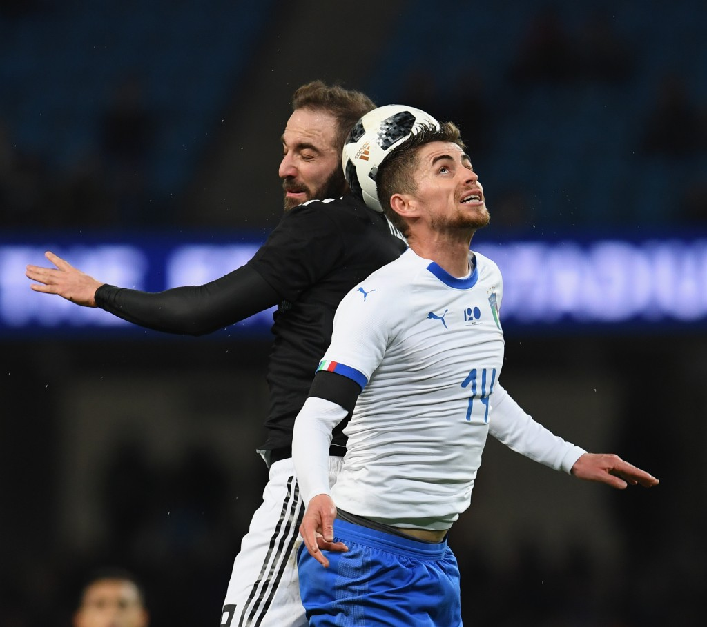 Jorginho (R) had a decent outing while Higuain (L) did not (Photo by Claudio Villa/Getty Images)