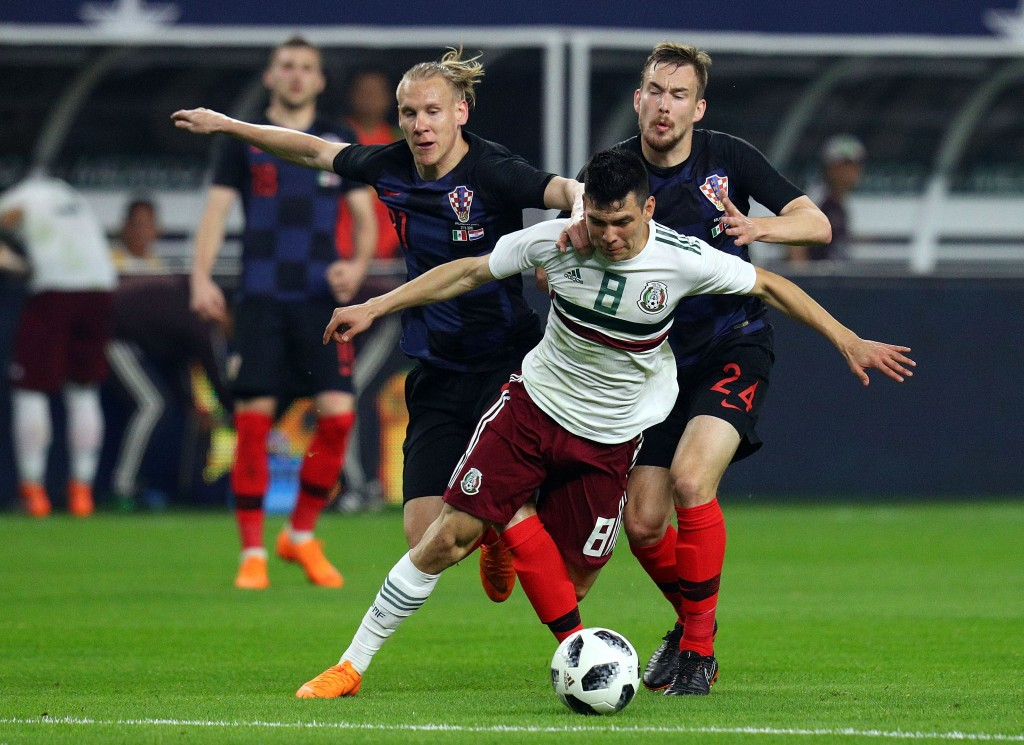 Lozano caused problems for the Croatian defence (Photo by Richard Rodriguez/Getty Images)