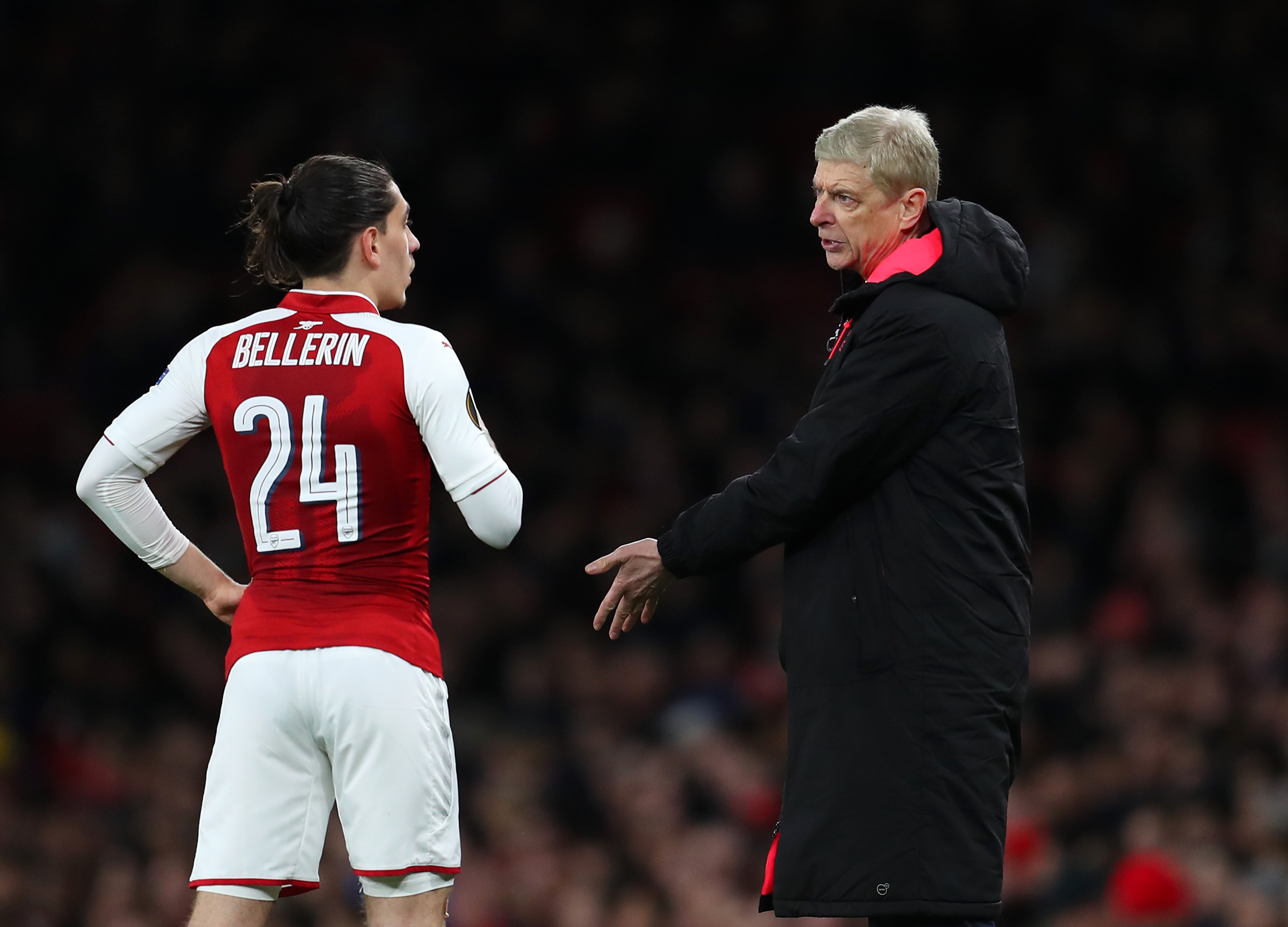 Bellerin is one of the few players in this Arsenal team that were once coached by the legendary Arsene Wenger. (Picture Courtesy - AFP/Getty Images)