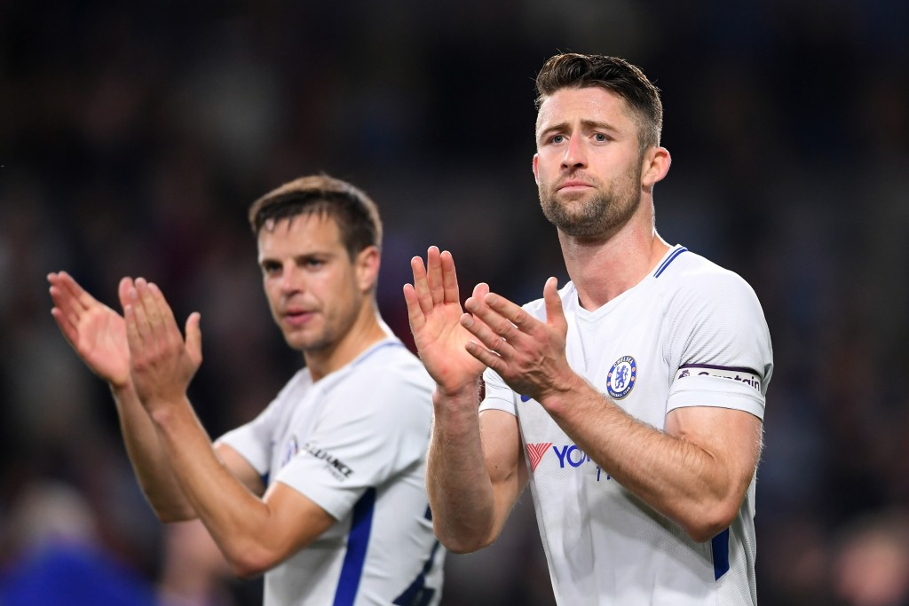 BURNLEY, ENGLAND - APRIL 19: Gary Cahill of Chelsea applauds fans after the Premier League match between Burnley and Chelsea at Turf Moor on April 19, 2018 in Burnley, England. (Photo by Laurence Griffiths/Getty Images)