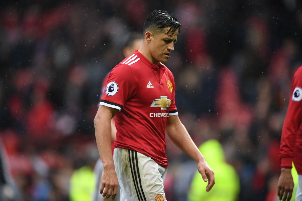 It hasn't exactly panned out the way Alexis and Manchester United would have wanted thus far. (Picture Courtesy - AFP/Getty Images)