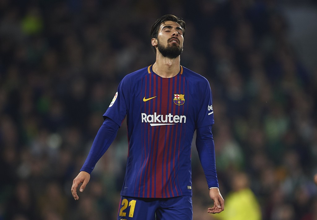 Gomes has endured a torrid time with Barcelona. (Photo by Aitor Alcalde/Getty Images)