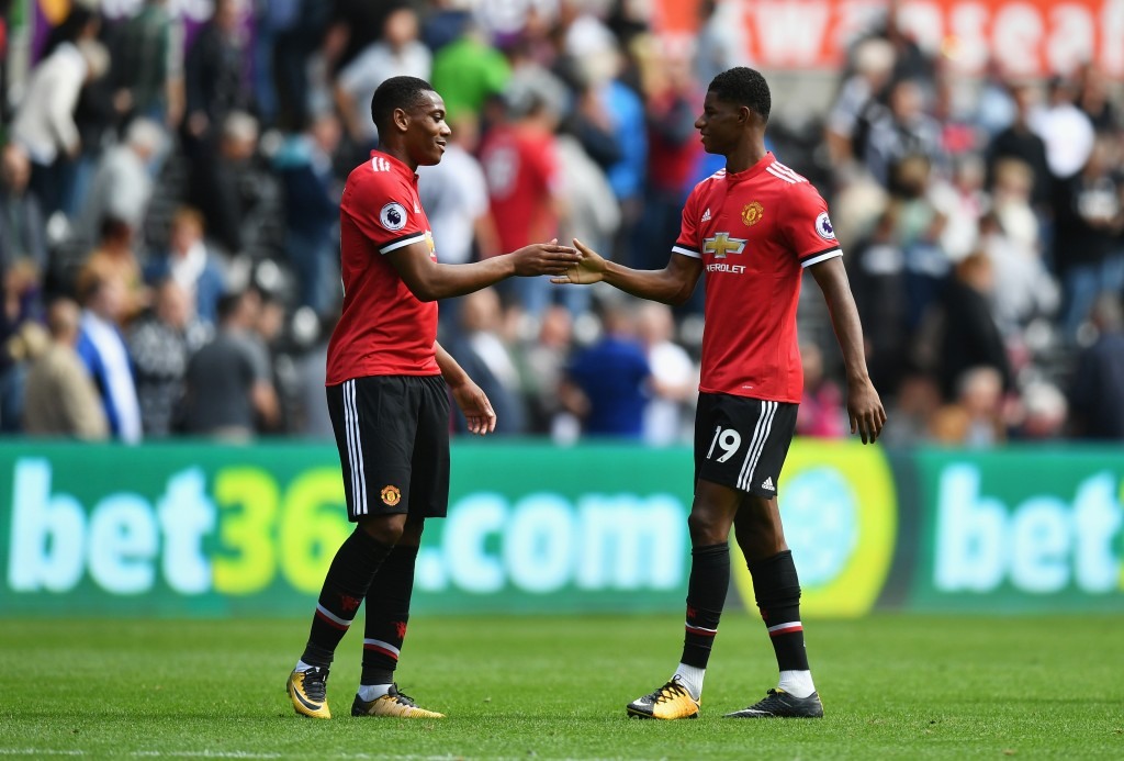 Both Rashford and Martial seem to have fallen out of favour with Mourinho (Picture Courtesy - AFP/Getty Images)