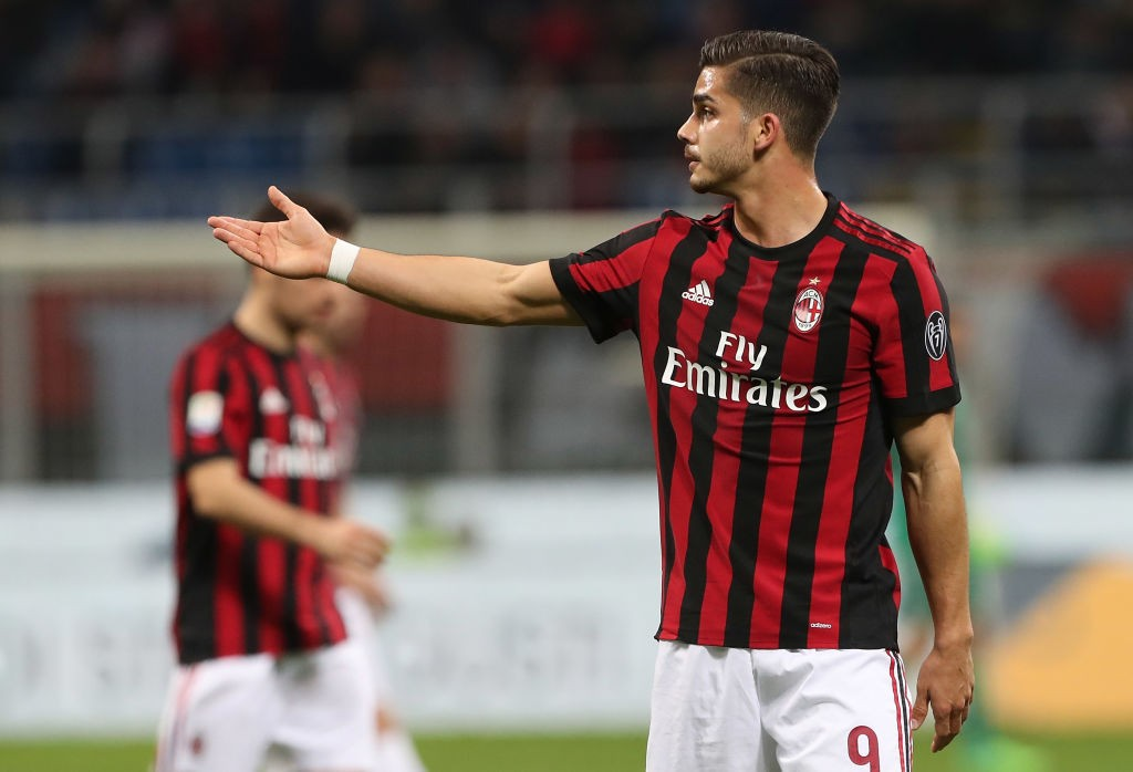 Between Andre Silva and Nikola Kalinic the Portuguese has been slightly although overall both were underwhelming this season for Milan. (Photo courtesy: AFP/Getty)