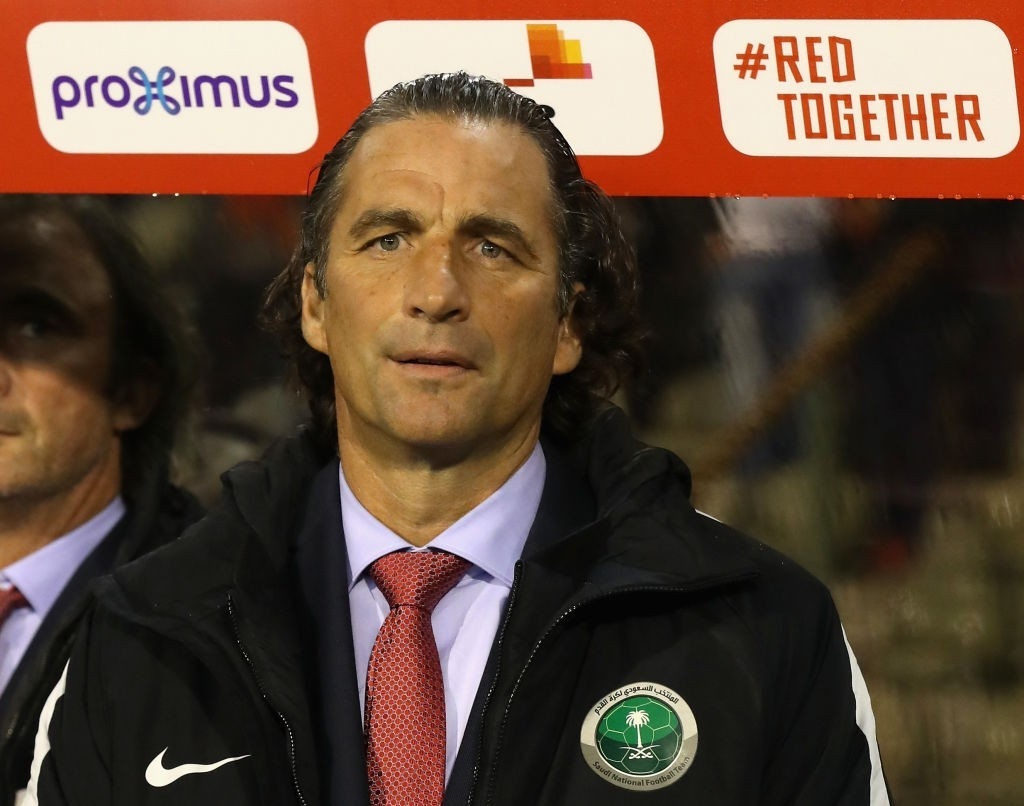 Saudi Arabia manager Juan Antonio Pizzi has a tough task at his hands (Photo by David Rogers/Getty Images)