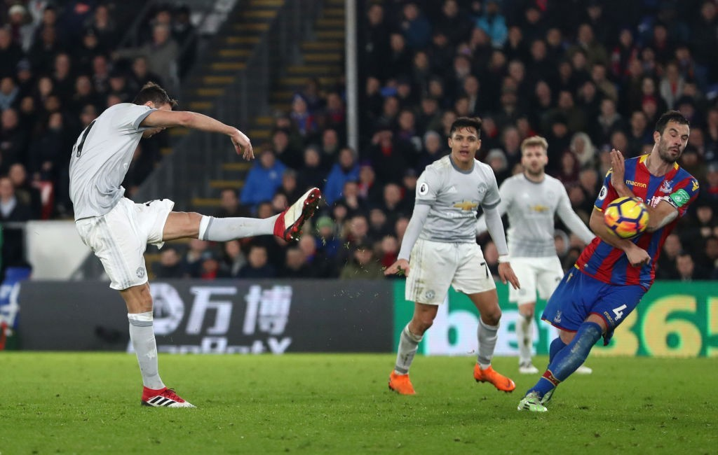 Matic's worldie against Palace that sealed the win (Photo: Catherine Ivill/Getty Images)