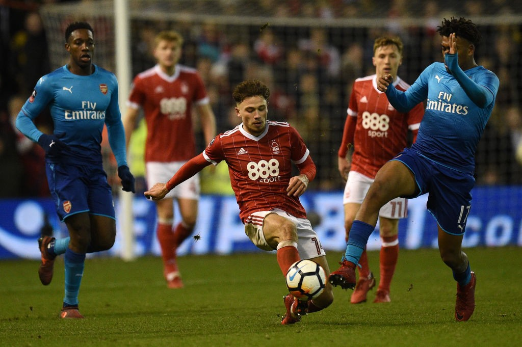 Arsenal crashed out of the FA Cup third round to Nottingham Forest. (Photo courtesy: AFP/ Getty)