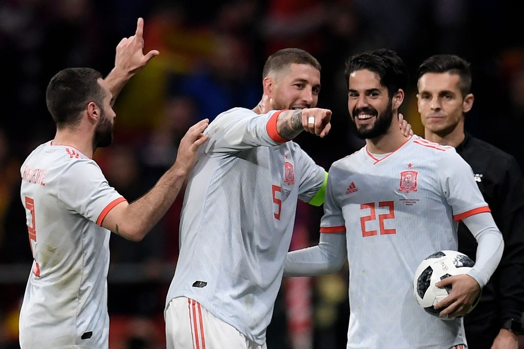 Isco and Sergio Ramos are key components in this Spain setup for the World Cup. (Photo courtesy - Gabriel Bouys/AFP/Getty)