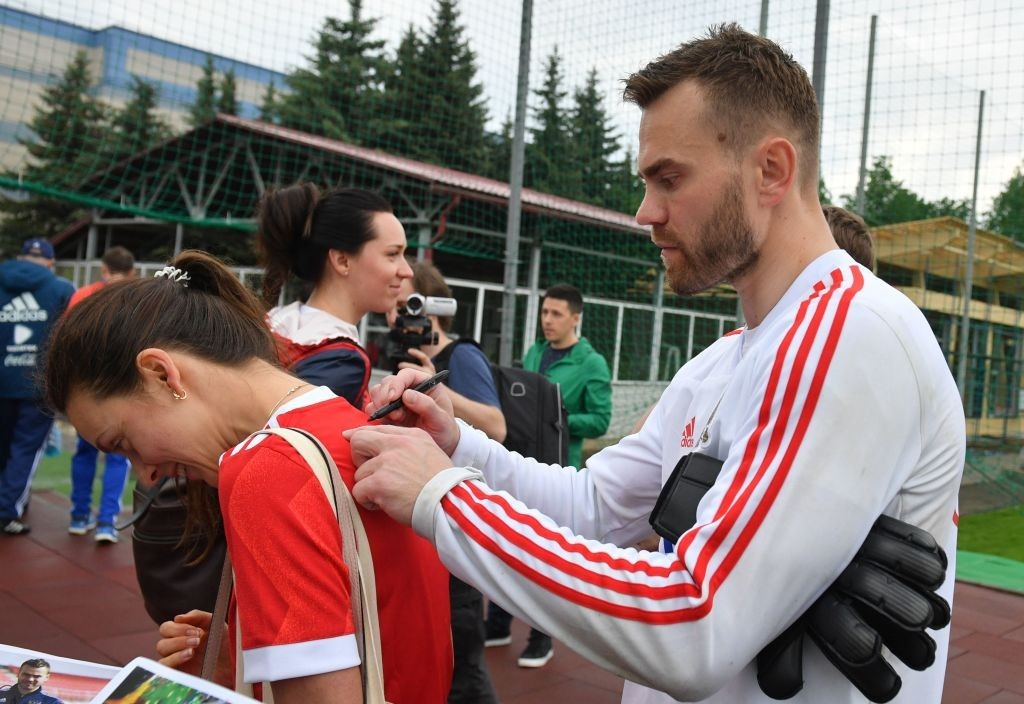 Captain Igor Akinfeev will have a huge role to play (Photo: STR/AFP/Getty Images)
