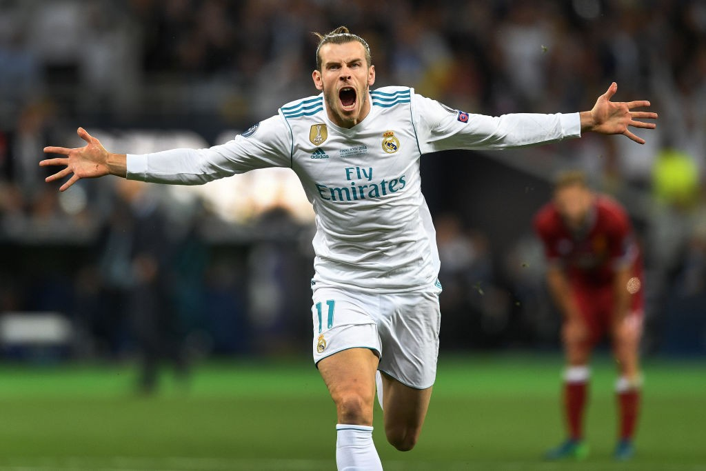 Incredi-Bale! Gareth Bale yet again delivers on Real Madrid's big night, helping them win the Champions League title against Liverpool. (Photo courtesy: AFP/Getty)