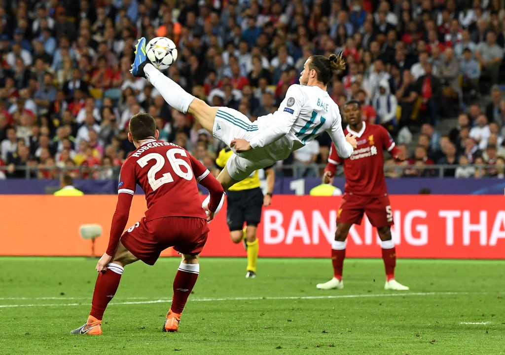 He can do one better than Ronaldo! Bale's incredible goal has put Ronaldo's effort against Juventus in the backdrop. (Photo courtesy: AFP/Getty)