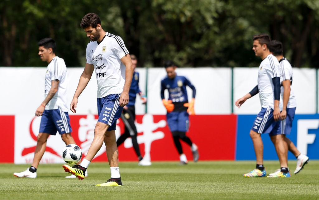 Federico Fazio was on the bench for the first two games and could start against Nigeria. (Photo courtesy: AFP/Getty)