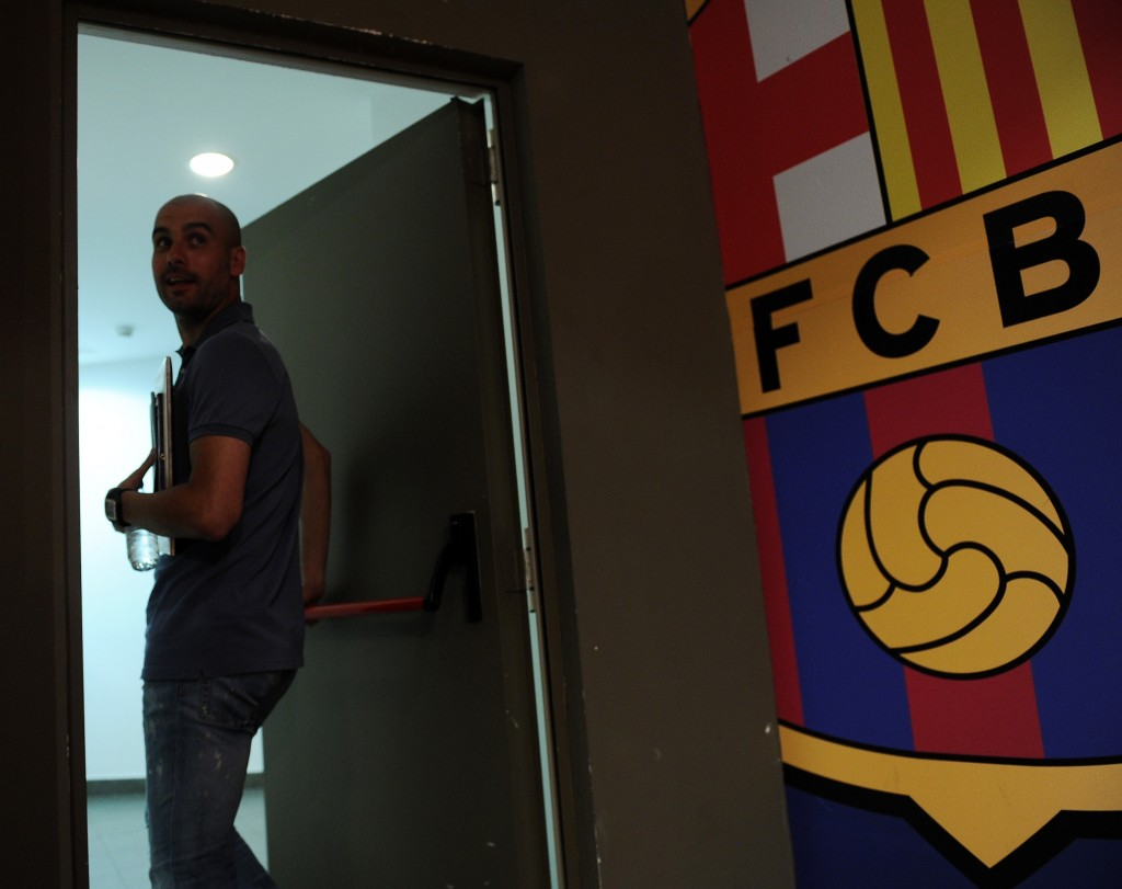 Pep Guardiola will not open the door to a possible Barcelona return. (Photo courtesy - Lluis Gene/AFP/GettyImages)