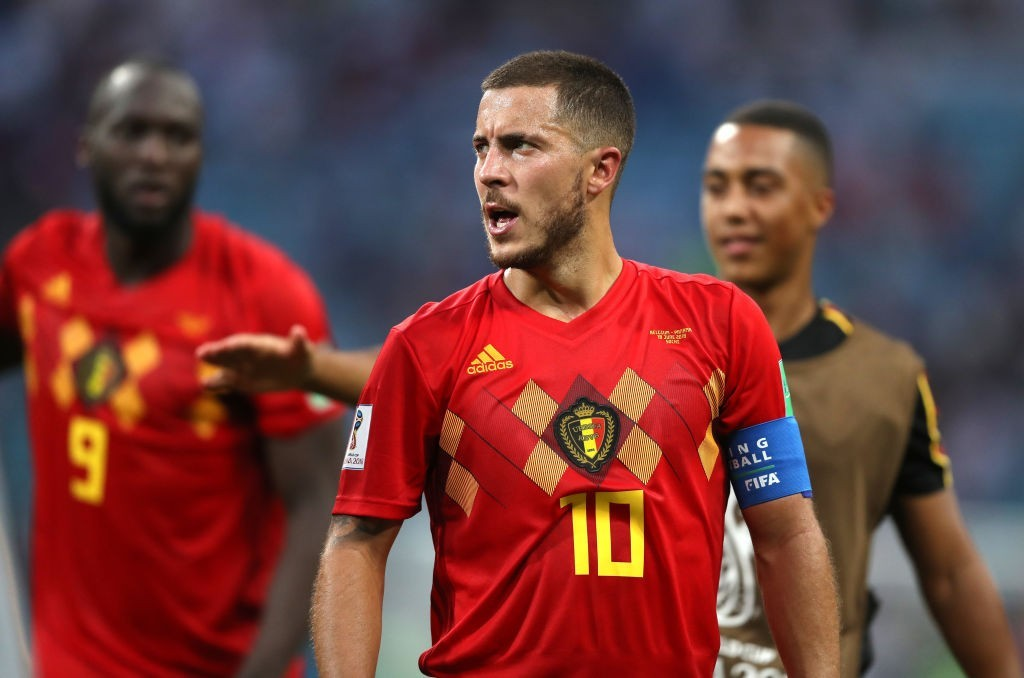 Hazard, currently on duty with Belgium, is a wanted man at the Bernabeu (Photo by Francois Nel/Getty Images)