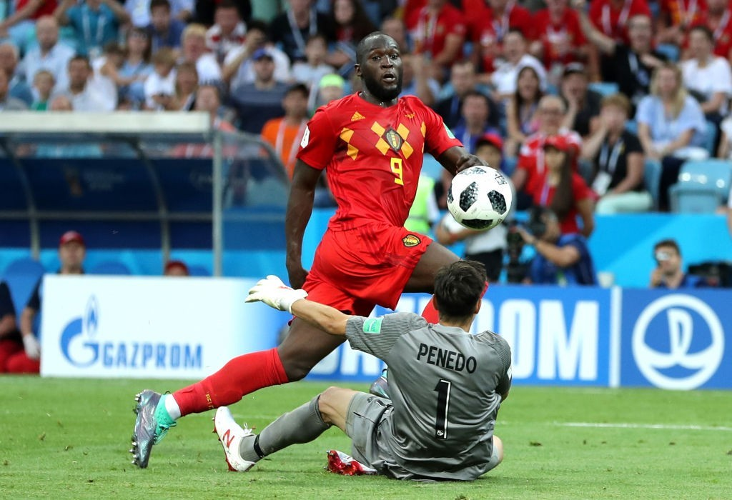 A quickfire double by Lukaku led Belgium to a win (Photo by Richard Heathcote/Getty Images)