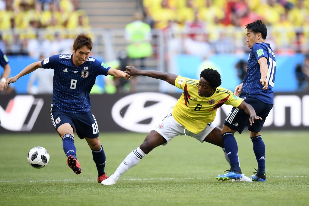 Carlos Sanchez started his World Cup with a quick rec card against Japan and could now return for the game against Senegal. (Photo courtesy: AFP/Getty)