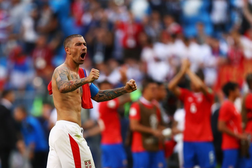 Can captain Kolarov hold off the dangerous Shaqiri? (Photo by Dean Mouhtaropoulos/Getty Images)