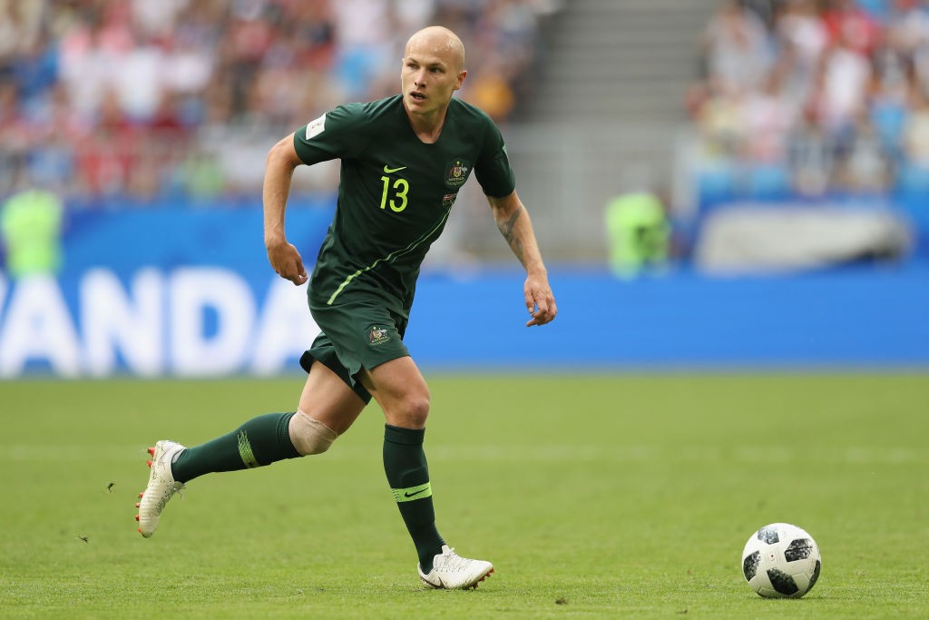 Aaron Mooy was Australia's best player on the pitch against Denmark. (Photo courtesy: AFP/Getty)