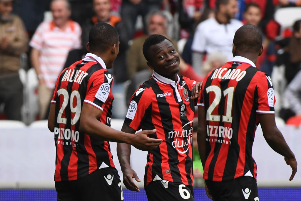 Jean Michel Seri (centre) has been linked with a summer move to Arsenal. (Photo courtesy: AFP/Getty)