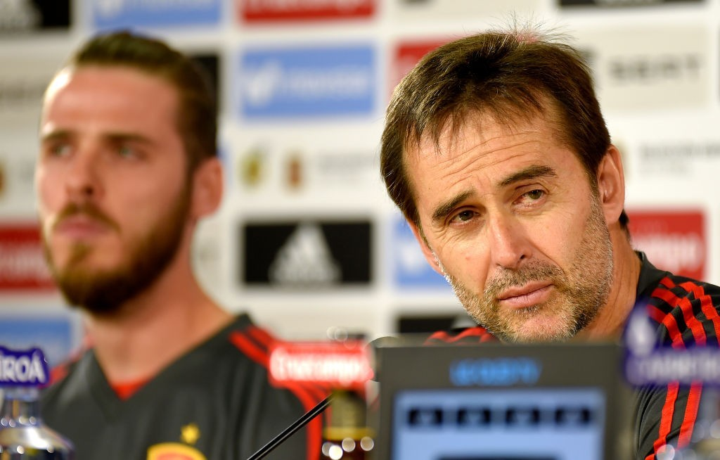De Gea's strong relationship with Julen Lopetegui could help Real Madrid finally nab him. (Photo courtesy - Jose Jordan/AFP/Getty Images)