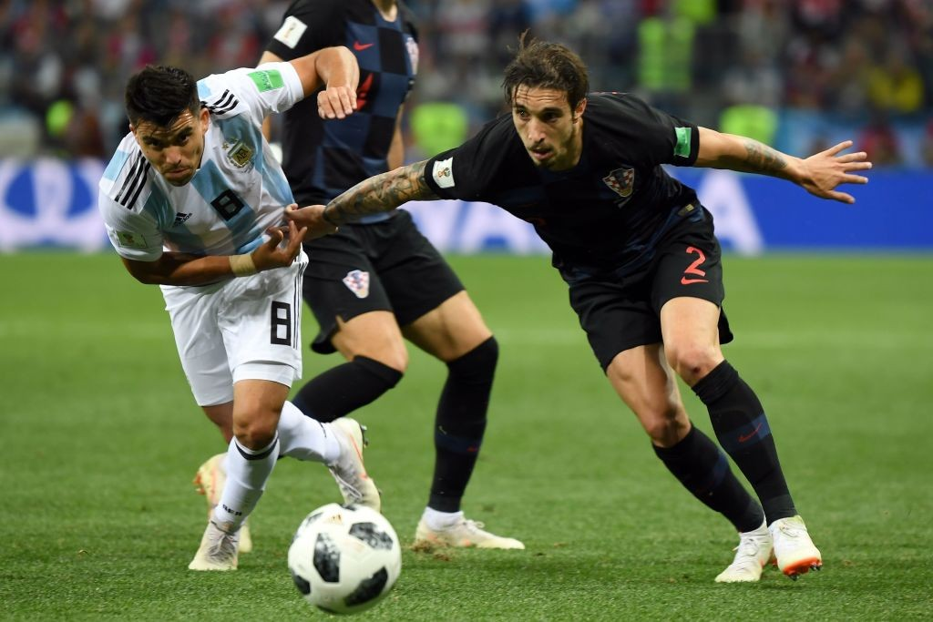 Sime Vrsaljko had a terrific game at right-back for Croatia as his team defeated Argentina in World Cup clash. (Photo courtesy: AFP/Getty)