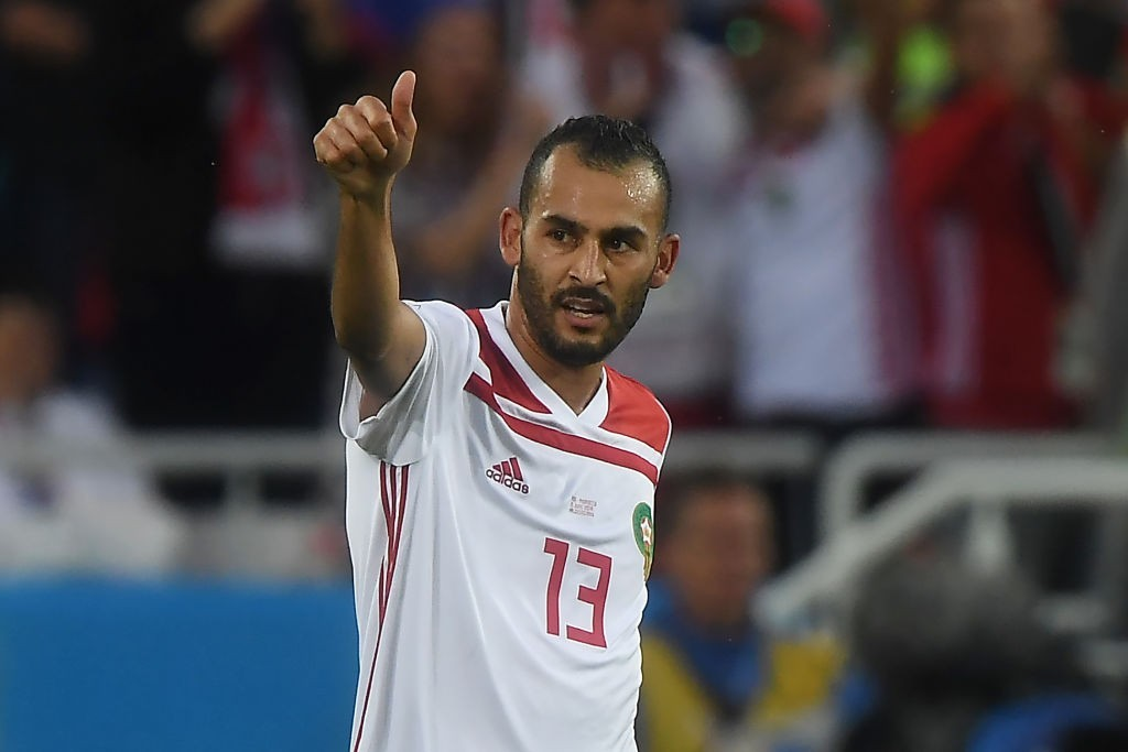Khalid Boutaib scored the opener for Morocco (Photo by ATTILA KISBENEDEK/AFP/Getty Images)