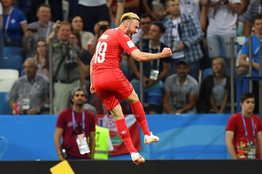 Drmic netted his first goal of the tournament (Photo by MARTIN BERNETTI/AFP/Getty Images)
