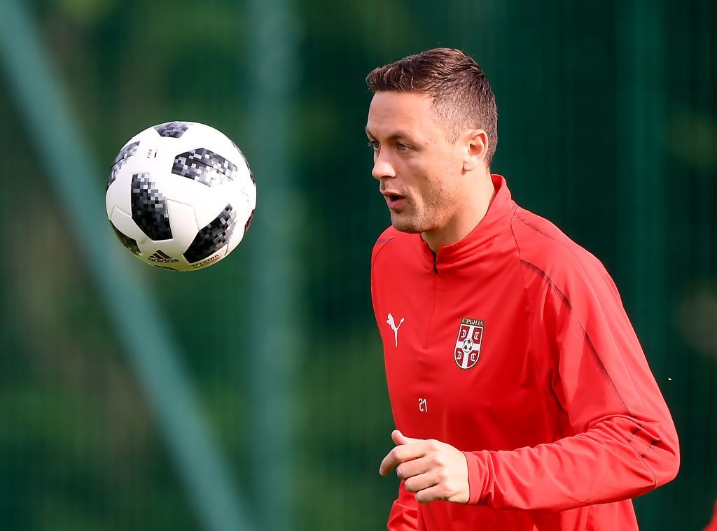 Matic will be integral to Serbia's hopes on Friday. (Photo by ATTILA KISBENEDEK/AFP/Getty Images)