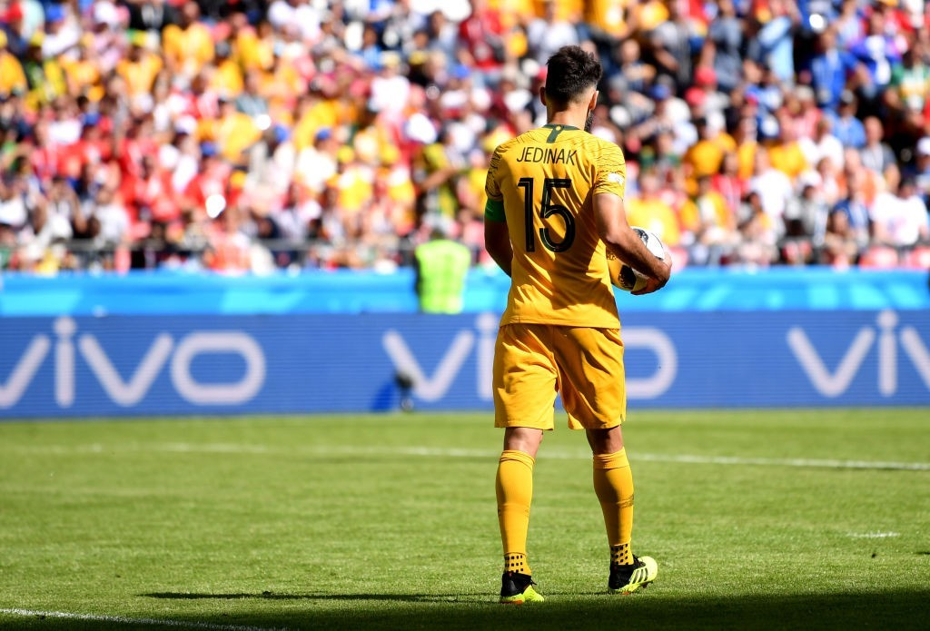 Can Jedinak lead Australia to a victory?(Photo by Laurence Griffiths/Getty Images)