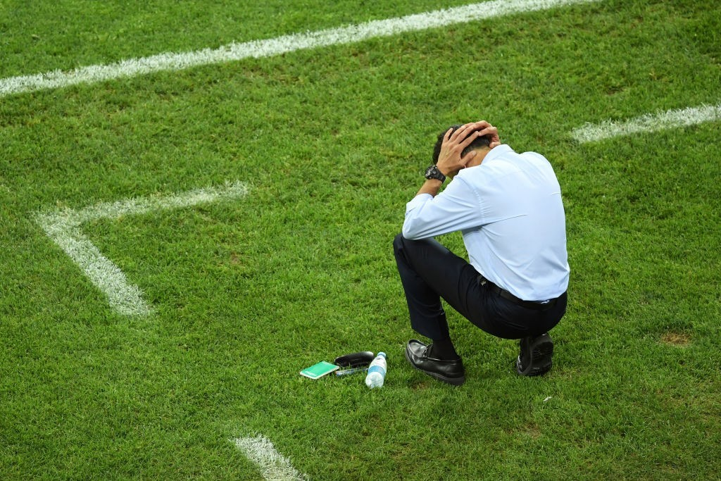 It was a frustrating afternoon for Juan Carlos Osorio & co. (Photo courtesy - Matthias Hangst/Getty Images)